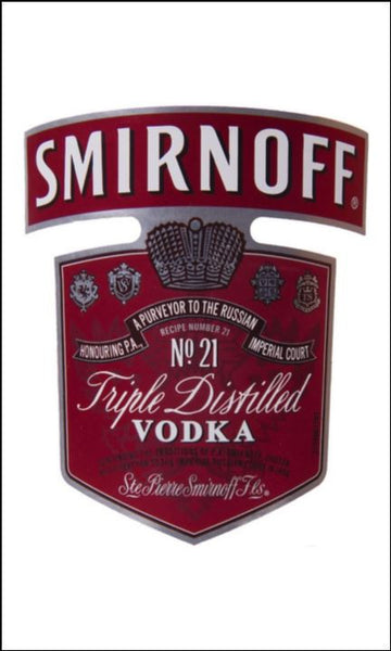 Vodka Label Edible Icing Topper 03 - Smirnoff