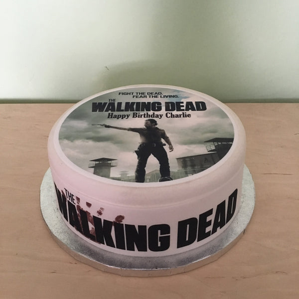 The Walking Dead Edible Icing Cake Topper 01