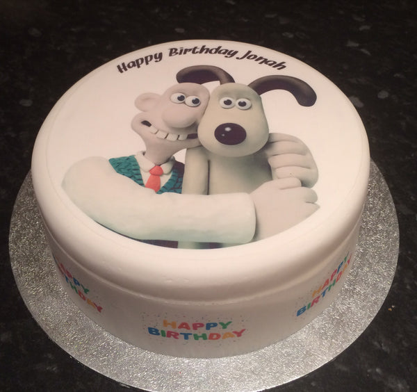 Wallace & Gromit Edible Icing Cake Topper 02