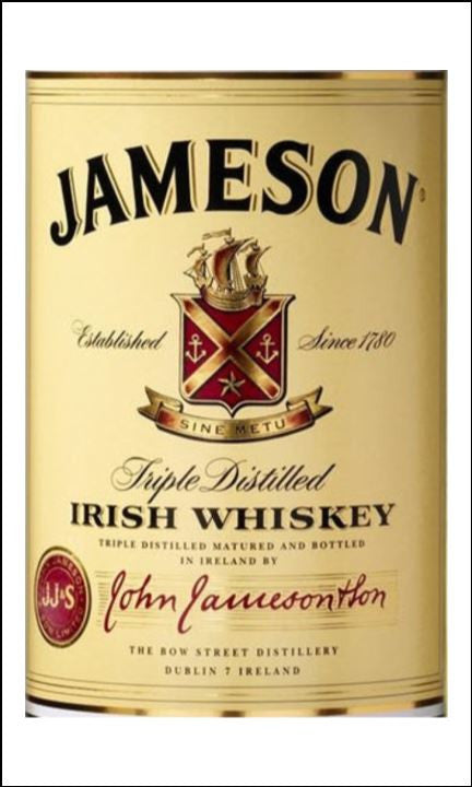 whisky label edible icing topper 07 jameson the caker online