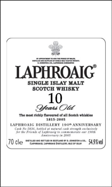 Whisky Label Edible Icing Topper 09 - Laphroaig