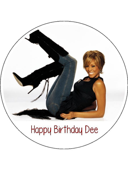 Whitney Houston Edible Icing Cake Topper 01