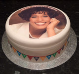 Whitney Houston Edible Icing Cake Topper