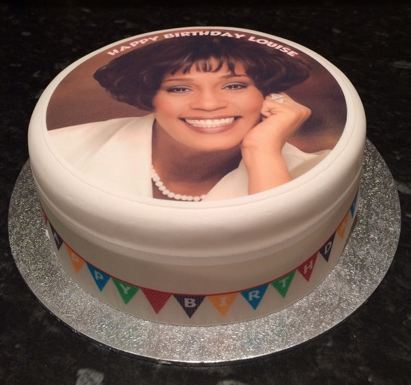 Whitney Houston Edible Icing Cake Topper 02