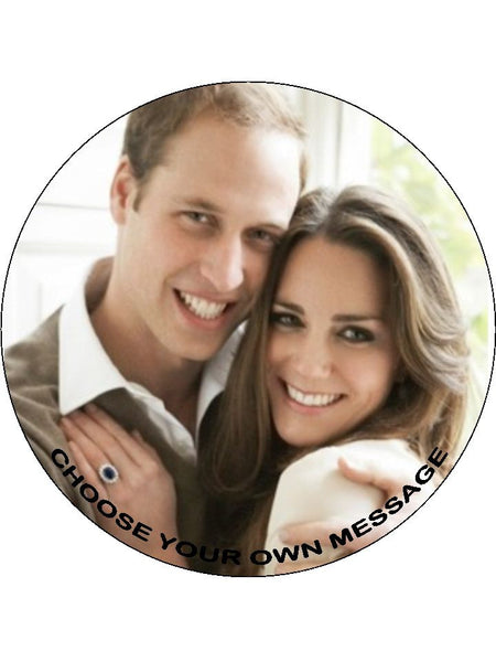 Prince William & Kate Edible Icing Cake Topper 01