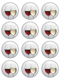 Wine Lover Edible Icing Cake Topper 02