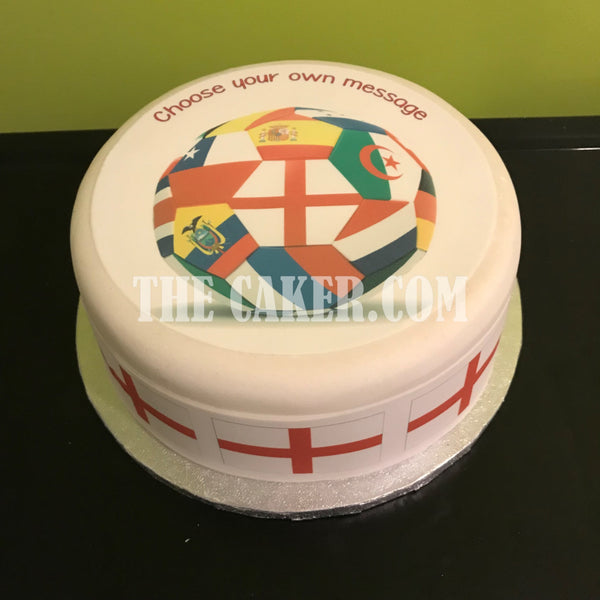 England Football Edible Icing Cake Topper 15
