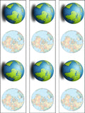 Planet Earth Edible Icing Cake Topper 01
