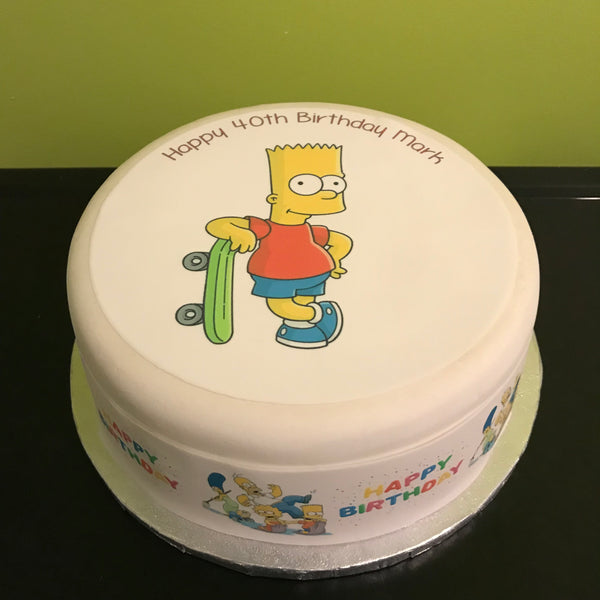 The Simpsons Edible Icing Cake Topper Bart Simpson