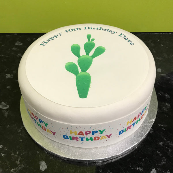 Cactus plant Edible Icing Cake Topper