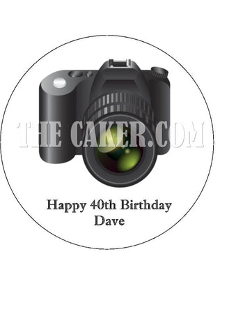 Camera Edible Icing Cake Topper 01