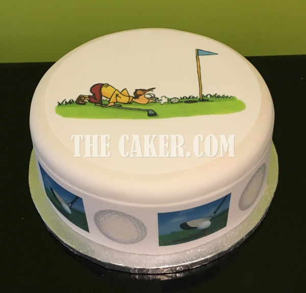Golf Edible Icing Cake Topper 02