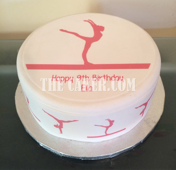 Gymnastics Edible Icing Cake Topper 05