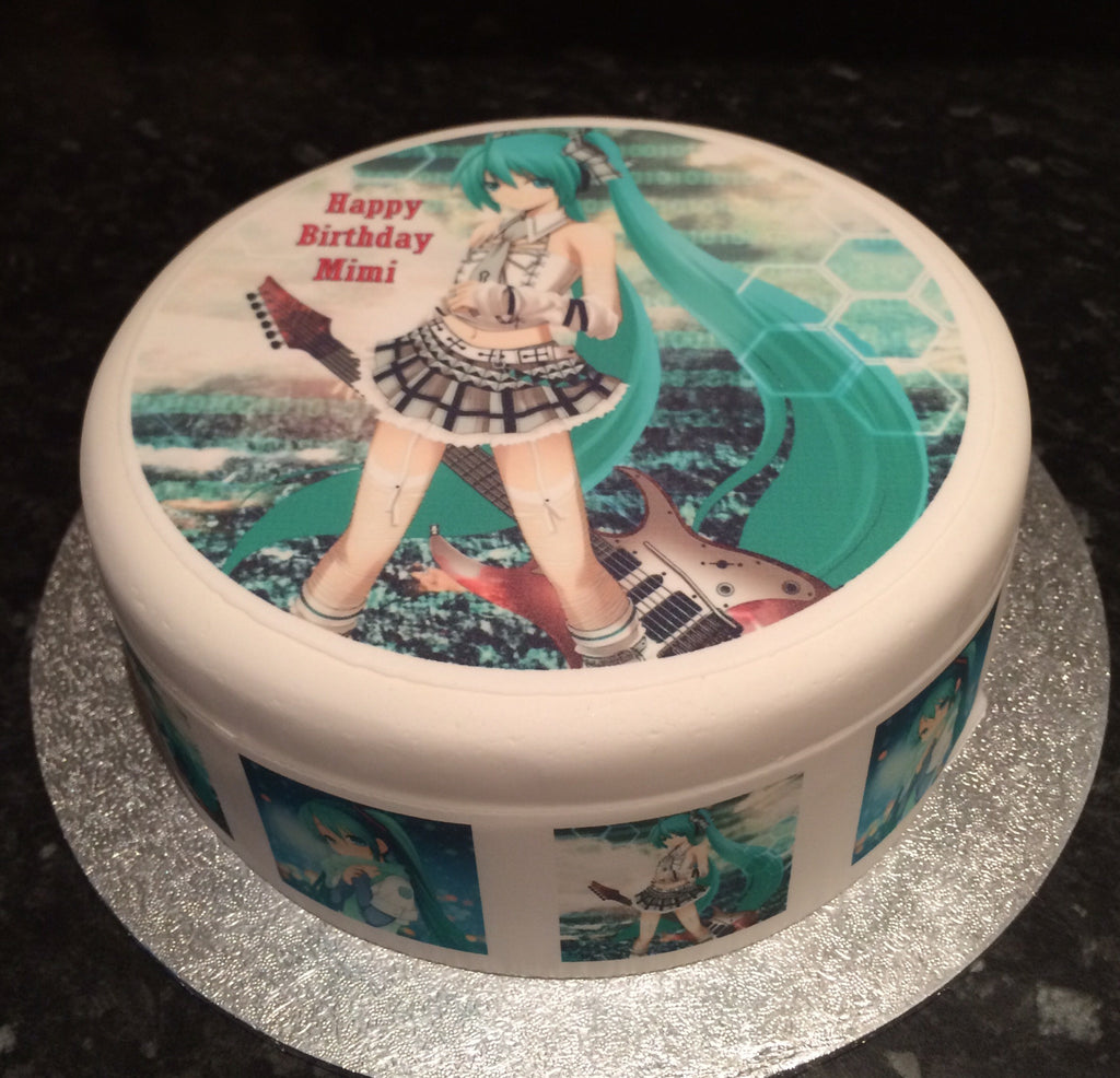 Hatsune Miku Edible Icing Cake Topper 01 The Caker Online