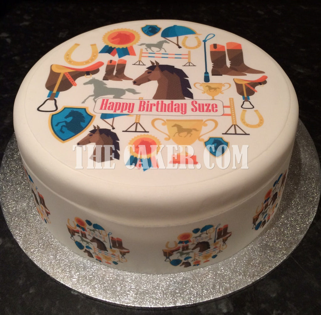 Awesome Horse Horses Edible Icing Cake Topper 03 The Caker Online Personalised Birthday Cards Xaembasilily Jamesorg