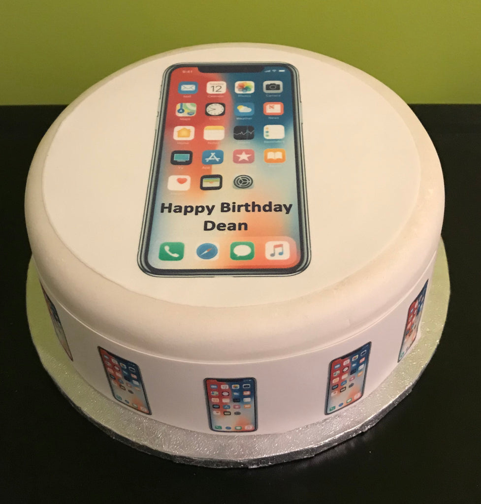 Terrific Iphone X Edible Icing Cake Topper The Caker Online Funny Birthday Cards Online Aeocydamsfinfo