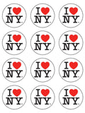New York I Love NY Edible Icing Cake Topper