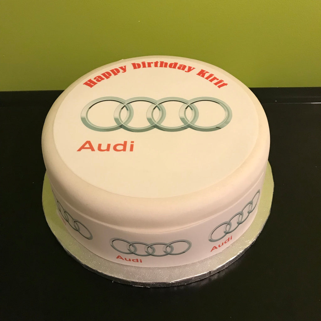 Audi Logo Edible Icing Cake Topper The Caker Online