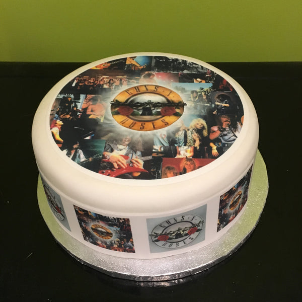Guns n Roses Edible Icing Cake Topper 02
