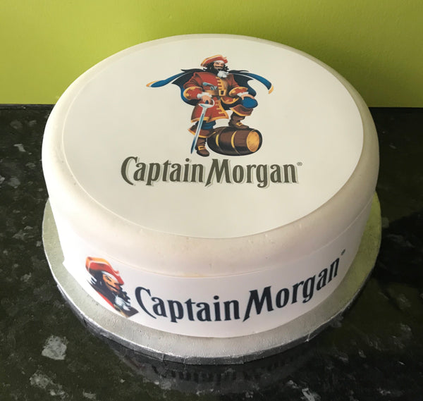 Captain Morgan Rum Logo Edible Icing Cake Topper