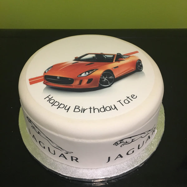 Jaguar F Type Car Edible Icing Cake Topper