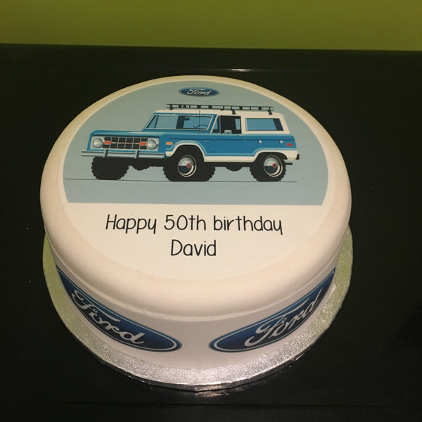 Ford Bronco Edible Icing Cake Topper 01