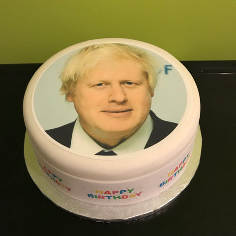 Boris Johnson Edible Icing Cake Topper 01
