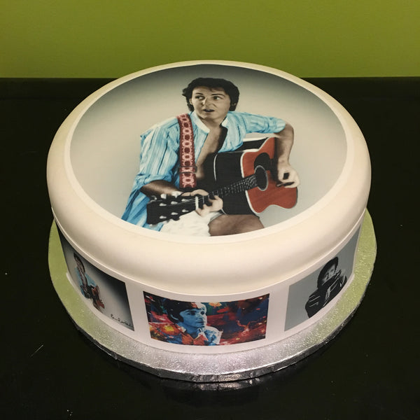 Paul McCartney Edible Icing Cake Topper 01