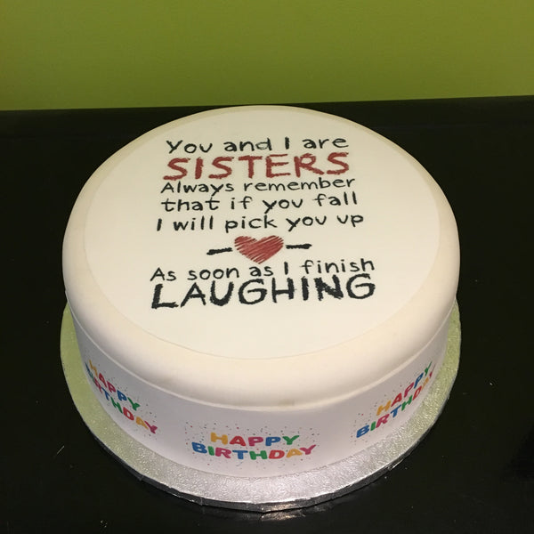 Birthday Sister Edible Icing Cake Topper 04