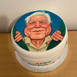 David Attenborough 05 Edible Icing Cake Topper