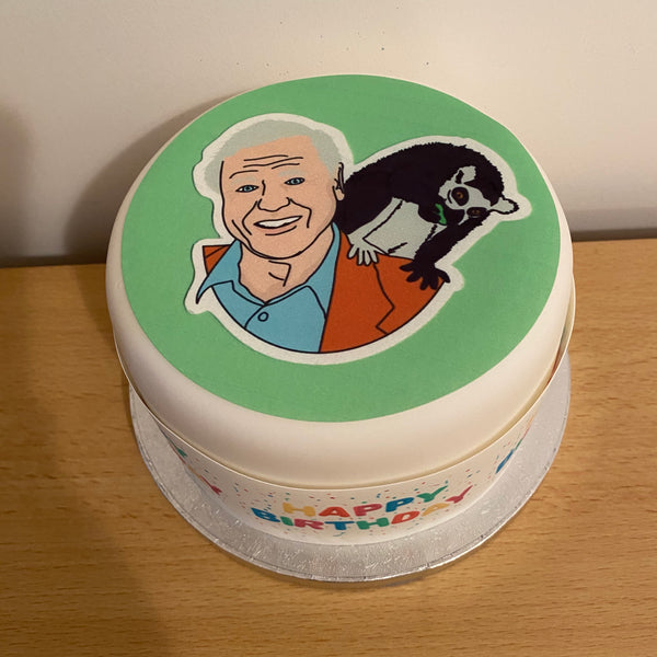 David Attenborough 07 Edible Icing Cake Topper