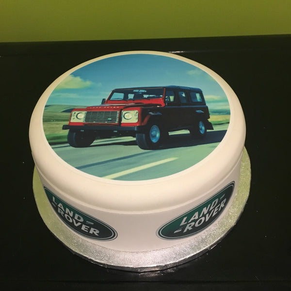 Land Rover Edible Icing Cake Topper 04