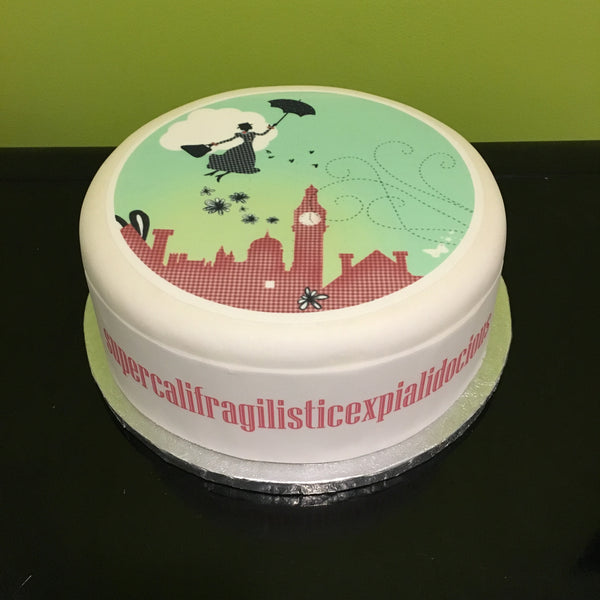 Mary Poppins Edible Icing Cake Topper 03
