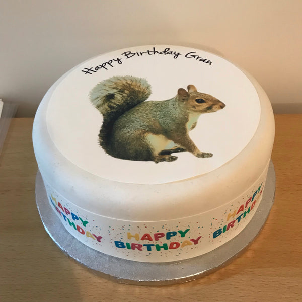 Squirrel Edible Icing Cake Topper