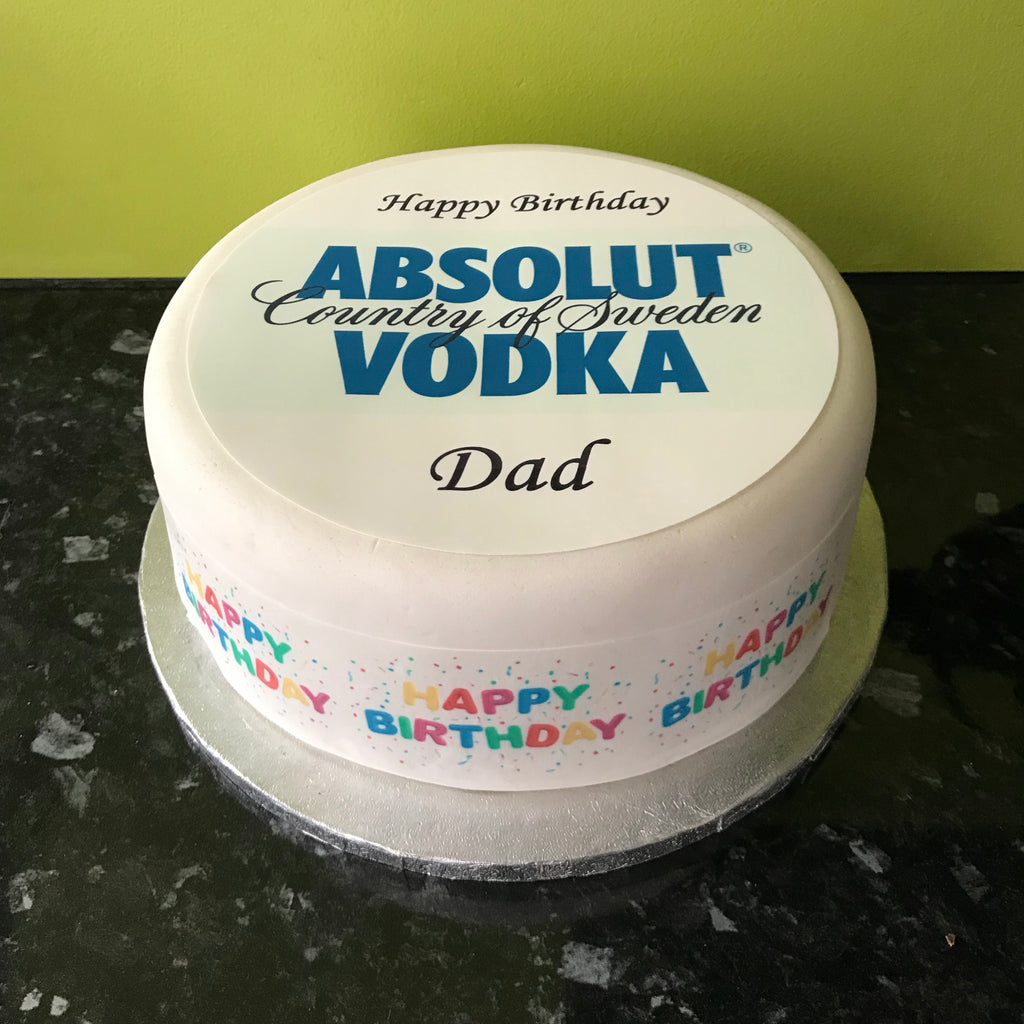 Amazing Absolut Vodka Logo Edible Icing Cake Topper The Caker Online Funny Birthday Cards Online Alyptdamsfinfo