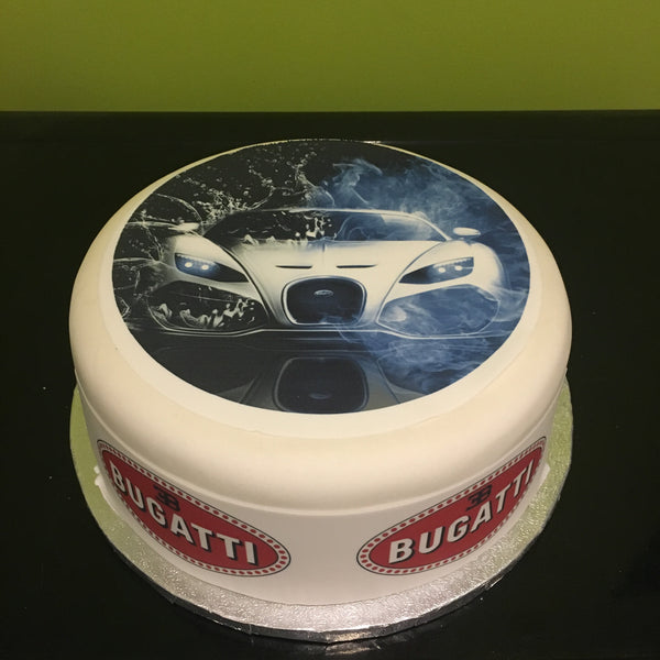 Bugatti Veyron Car Edible Icing Cake Topper 01
