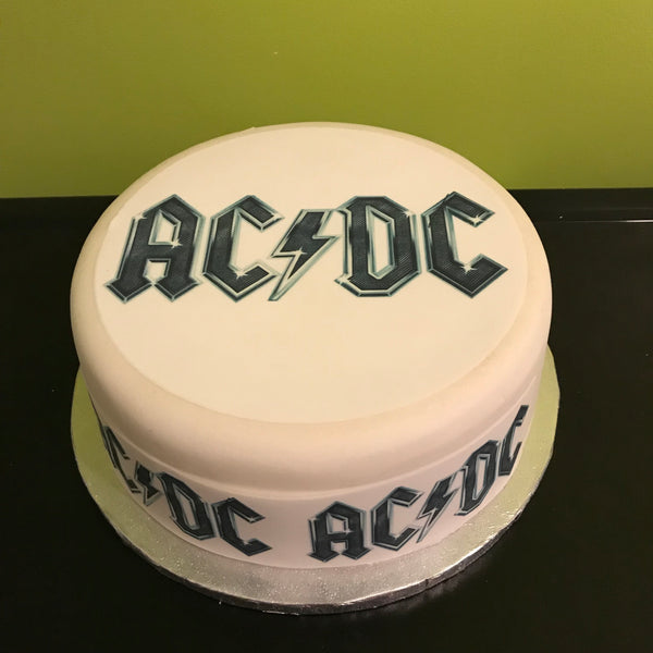 ACDC Edible Icing Cake Topper