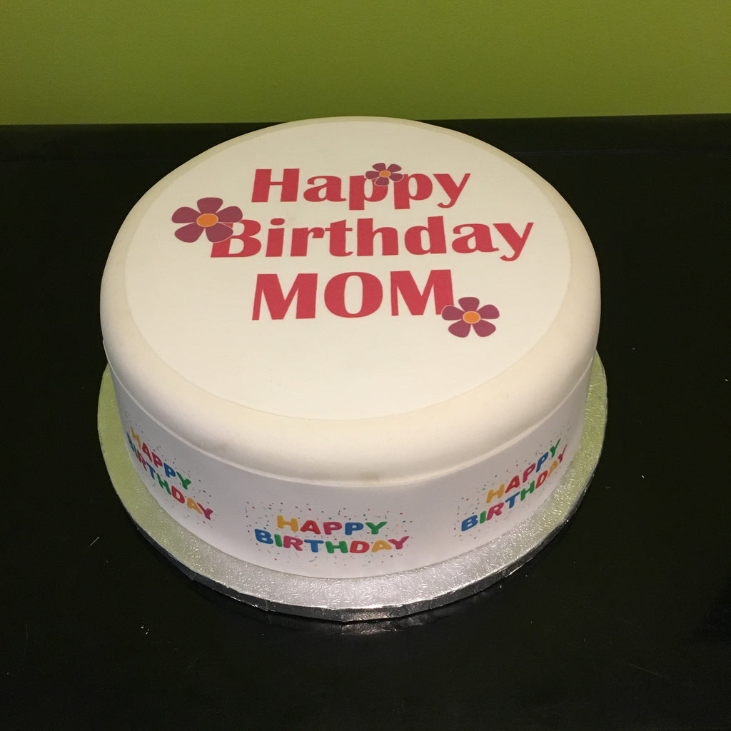 Prime Birthday Mom Edible Icing Cake Topper 01 The Caker Online Personalised Birthday Cards Veneteletsinfo