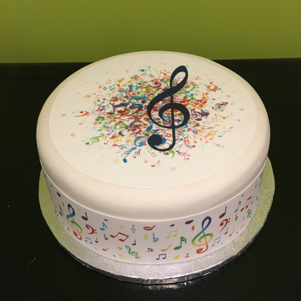 Music Notes 04 Edible Icing Cake Topper