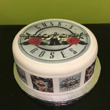 Guns n Roses Edible Icing Cake Topper 01
