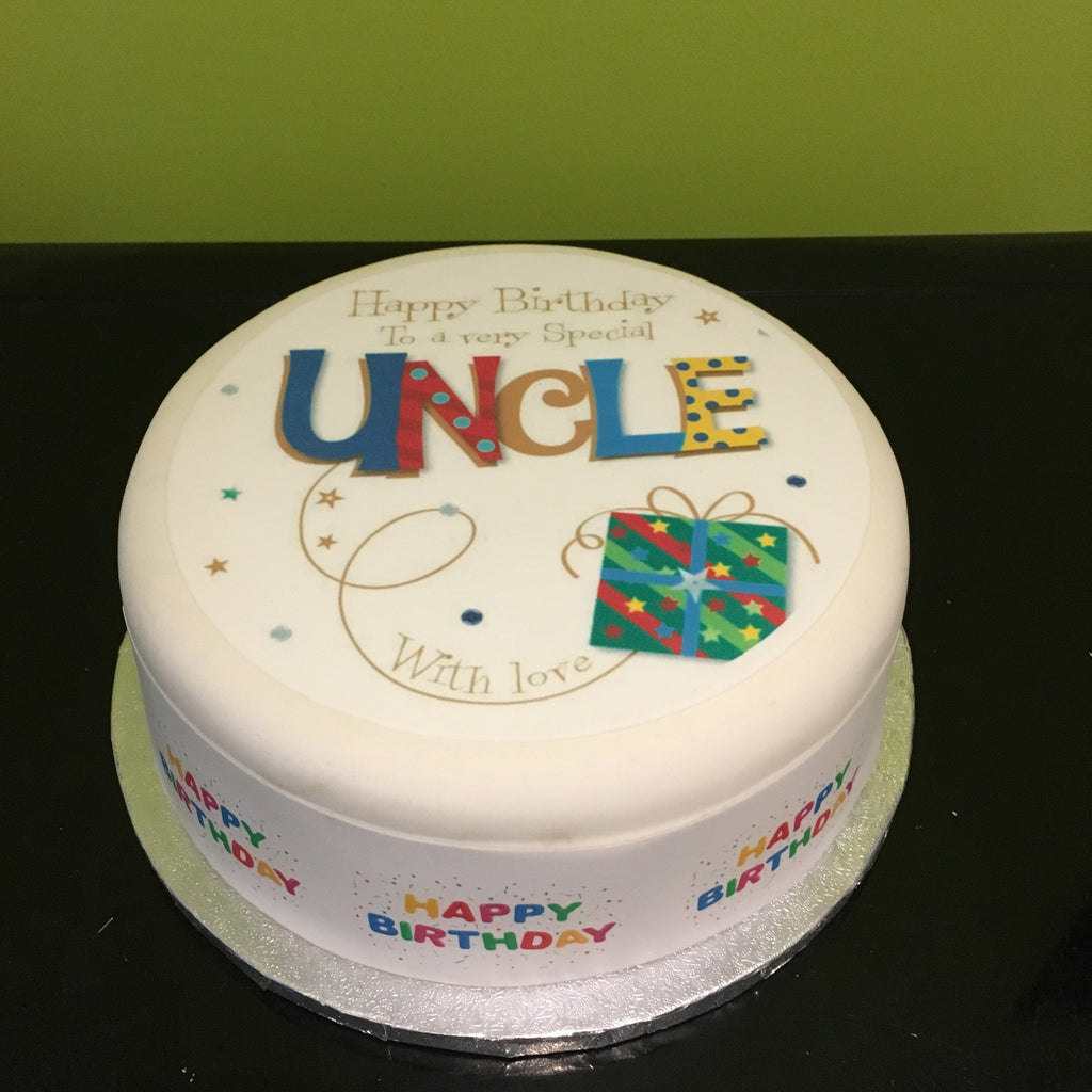 Happy Birthday Uncle Edible Icing Cake Topper 01 the caker online