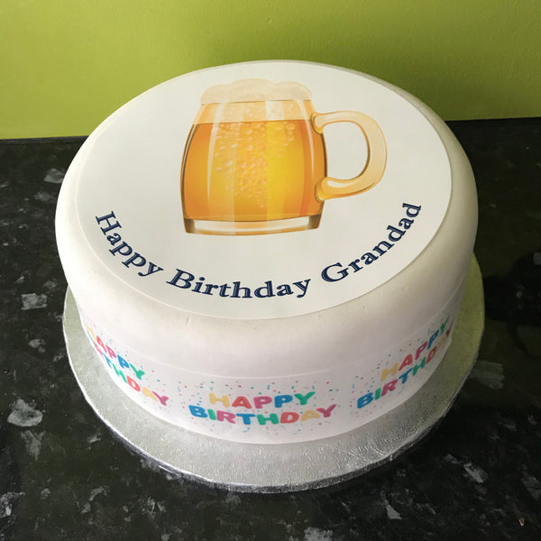 Beer Edible Icing Cake Topper 01