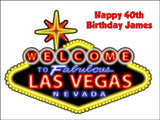 Las Vegas Sign Edible Icing Cake Topper 02