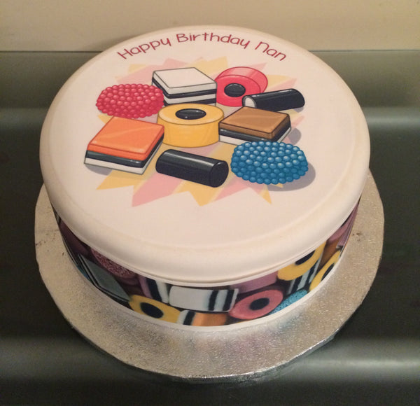Liquorice Allsorts Edible Icing Cake Topper