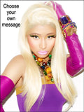 Nicki Minaj Edible Icing Cake Topper 02