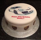 Porsche Car Edible Icing Cake Topper 01