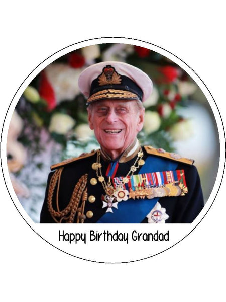 Prince Philip Edible Icing Cake Topper 02