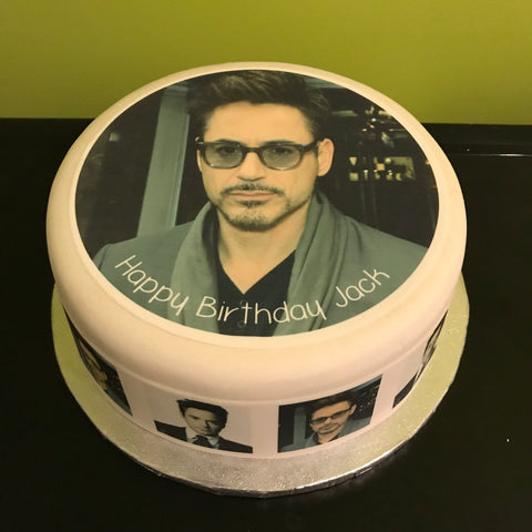 Robert Downey Jr Edible Icing Cake Topper 01