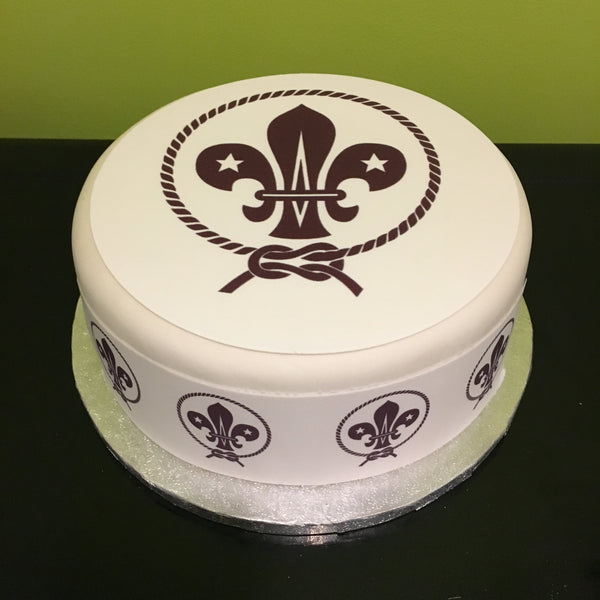 Scout Scouts Logo Edible Icing Cake Topper