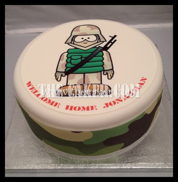 Soldier Cartoon Edible Icing Cake Topper